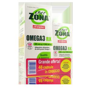 EnerZona Omega 3 RX Olio di Pesce 1gr Duo