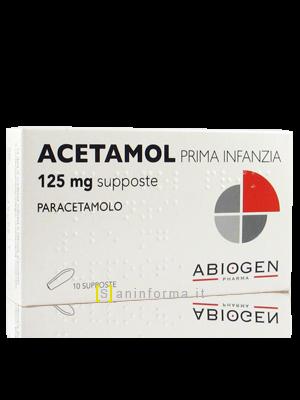 Acetamol Prima Infanzia 125 mg Supposte