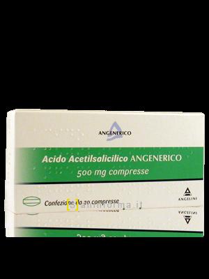 Acido Acetilsalicilico Angenerico 500 mg compresse