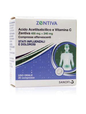 Acido Acetilsalicilico e Vitamina C Zentiva 400 mg + 240 mg Compresse Eff