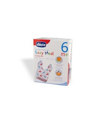 Chicco Bavaglino Monouso Easy Meal 6m+