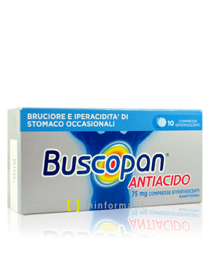 Buscopan Antiacido 75 mg Compresse Effervescenti