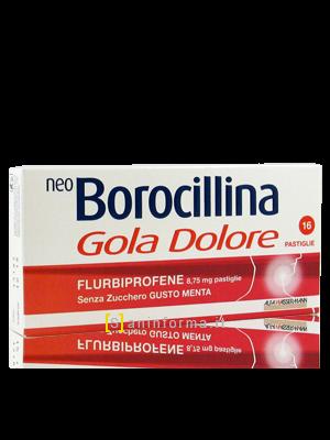 Neo Borocillina Gola-Dolore pastiglie senza zucchero gusto menta