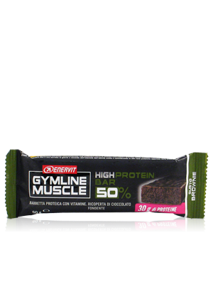 Enervit Gymline Muscle High Protein Bar 50% Brownie