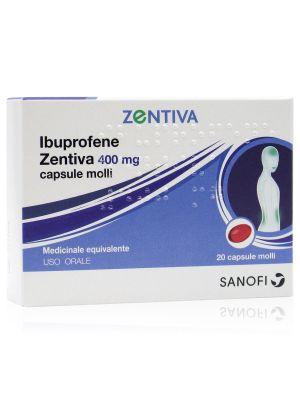 Ibuprofene Zentiva 400 mg 20 Capsule Molli