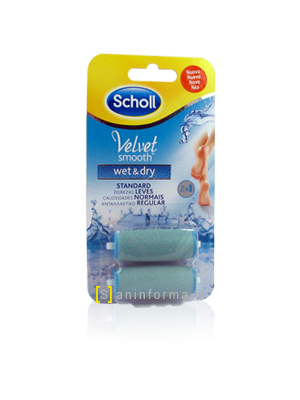 Scholl Velvet Smooth Wet and Dry Ricarica Testine