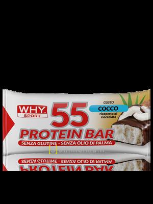 Why Sport 55 Protein Bar Gusto Cocco-Cioccolato