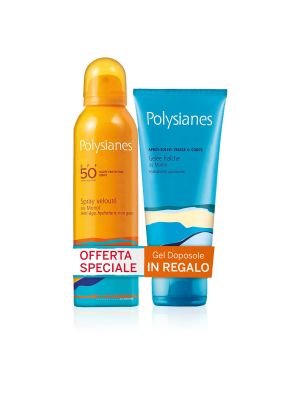 Polysianes Latte Spray Vellutato SPF50 + Omaggio Gel Fresco Dopo Sole