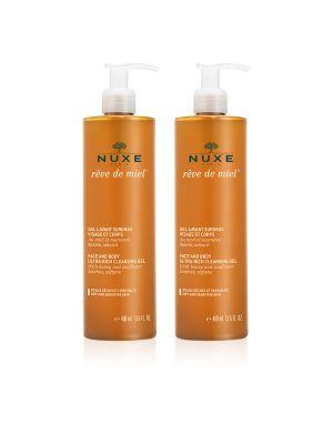 Nuxe Reve de Miel Duo Gel Detergente Surgras Viso e Corpo