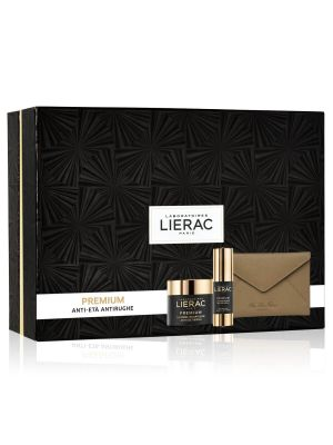 Lierac Coffret Duo Premium Creme Voluptueuse + Yeux + Rue Des Fleurs Pochette