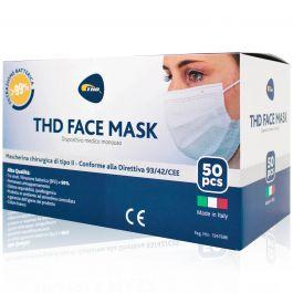 THD Face Mask Mascherine con Elastico 50 pezzi Made in Italy | Mascherine,  Flaconi, Vasetti e Test | Saninforma