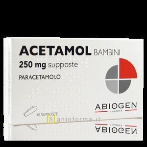Acetamol Bambini 250 mg Supposte