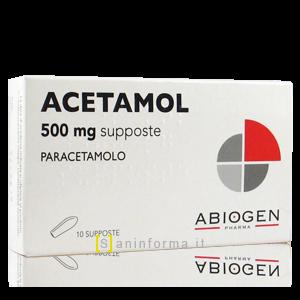 Acetamol 500 mg Supposte