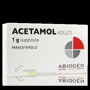 Acetamol Adulti 1 g Supposte