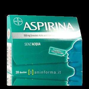 Aspirina 500mg granulato senza acqua bustine
