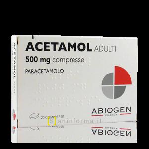 Acetamol Adulti 500 mg compresse