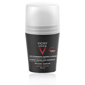 Vichy Homme Deodorante anti-Traspirante 72 H Roll-On