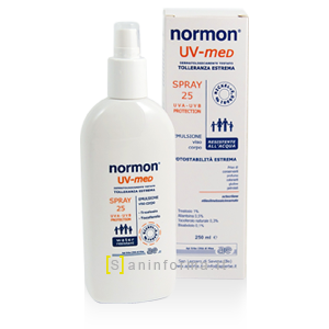 Normon Uv-med Spray Viso/Corpo SPF 25