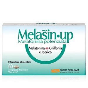 Melasin Up Melatonina Potenziata Integratore 60 Compresse