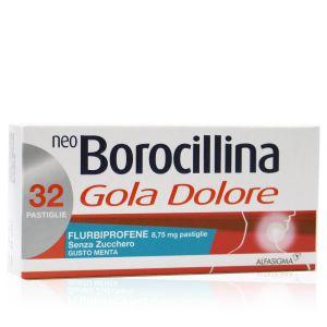 Neo Borocillina Gola e Dolore pastiglie senza zucchero gusto menta