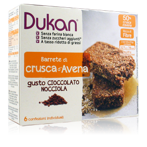 Dukan Barrette di Crusca al Gusto Cioccolato/Nocciola