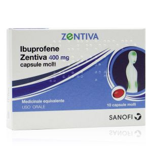 Ibuprofene Zentiva 400 mg 10 Capsule Molli