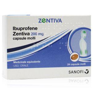 Ibuprofene Zentiva 200 mg 24 Capsule Molli