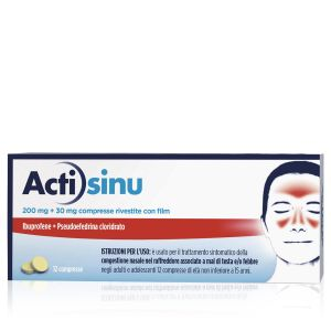 ACTISINU 200 Mg/30 Mg, Compresse Rivestite Con Film