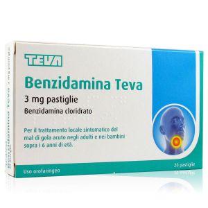 Benzidamina 3 mg Teva