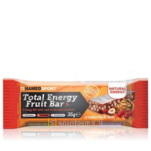 Named Sport Total Energy Fruit Bar Gusto Cranberries e Nuts