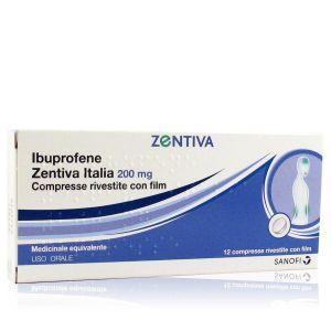 Ibuprofene Zentiva Italia 200 mg 12 Compresse Rivestite con Film
