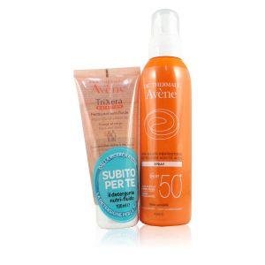 Avene Spray Solare SPF50+ Omaggio Trixera Detergente