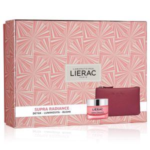 Lierac Coffret Supra Radiance Gel-Crema + Rue Des Fleurs Pochette
