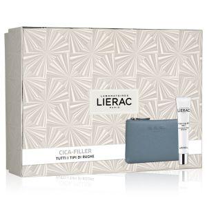 Lierac Coffret Cica-Filler Mat Gel Crema Anti Rughe + Rue Des Fleurs Pochette