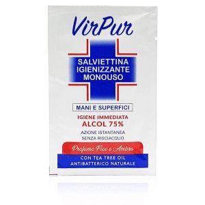 VirPur Salvietta Igienizzante Monouso Mani e Superfici