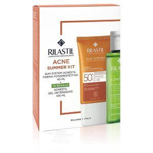 Rilastil Sun System Acnestil Duo Crema Fotoprotettiva SPF50+ + Omaggio Gel Detergente