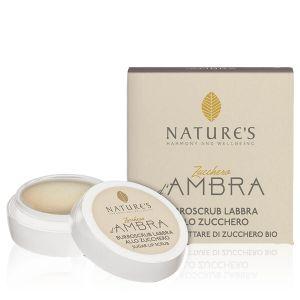 Nature's Zucchero D'ambra Labbra Scrub