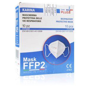 Mascherine Sani Plus Karina FFP2 NR 10 Pezzi Made in Italy