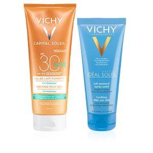 Vichy Capital Soleil Gel-Latte Fondente Wet SPF 30 + Omaggio Latte Doposole