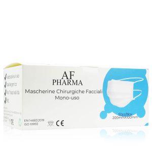 AF Pharma Mascherine Chirurgiche Monouso AF03-GO Azzurre 50 Pezzi