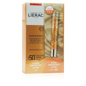 Lierac Sunissime Duo Fluido Protettivo Viso SPF50+ Stick Protettivo Occhi SPF50