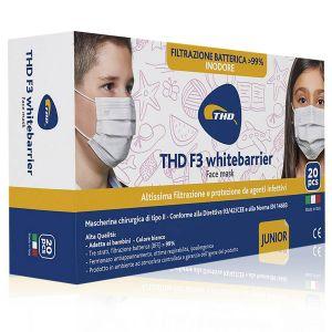 THD F3 Whitebarrier Mascherine Junior 20 Pezzi